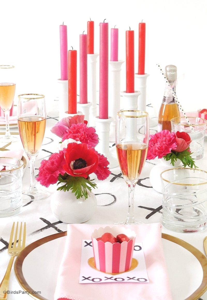 A modern valentine 39 s day dinner party party ideas for Valentines dinner party ideas
