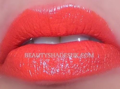 Mac Morange Lipstick on the lips