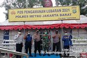 Kapolsek Tambora Bersama Babinsa Koramil 02/TB Tinjau Pos PAM Operasi Ketupat 2021