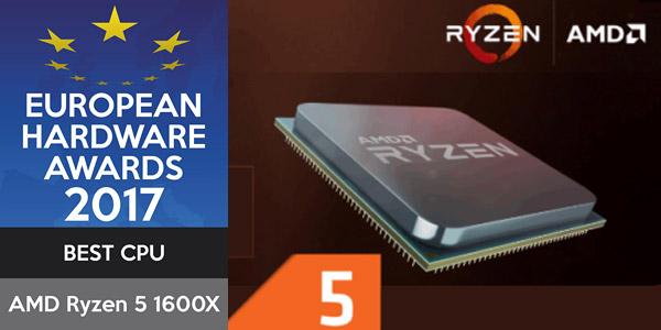 Premios de hardweare europeu 2017. Melhor CPU: AMD Ryzen 5 1600X