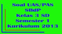 soal uas sbdp kelas 3 sd semester 1 kurikulum 2013