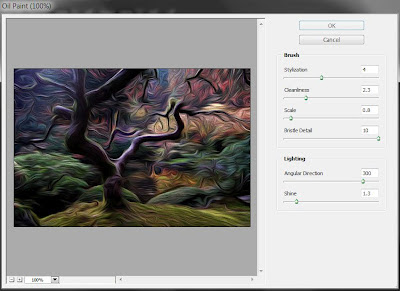 photoshop cs6 new feature : oil paint