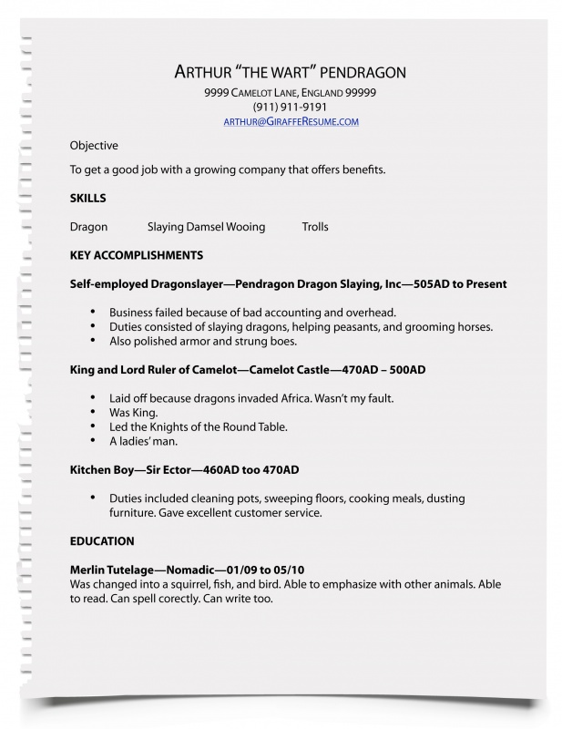 How To Write A Resume For Work Resume Sample
