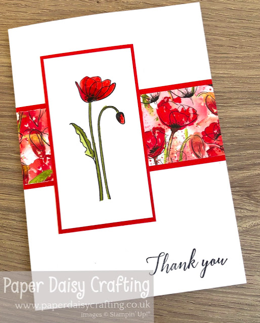 Nigezza Creates with Paper daisy crafting and Stampin' Up! Painted Poppies