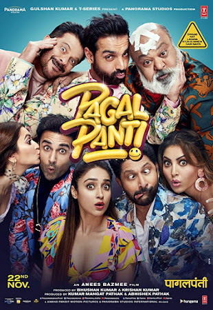 Watch Online Pagalpanti 2019 Full Movie Download HD Small Size 720P 700MB HEVC HDRip Via Resumable One Click Single Direct Links High Speed At WorldFree4u.Com