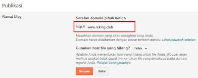Setelan Domain Blogspot