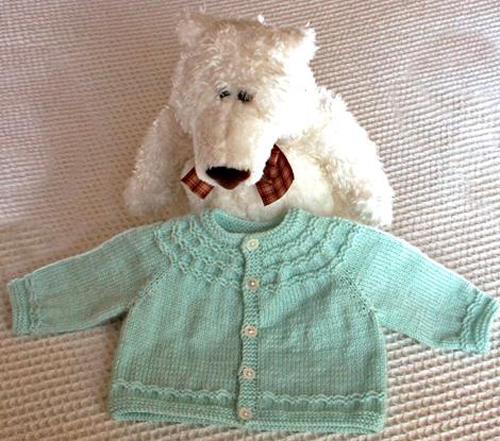 Seamless Yoked Baby Sweater - Free Pattern