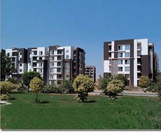 شقة للبيع بكمبوند دار مصر القرنفل 140 متر ناصية ع حديقة وبحرى دور متكرر