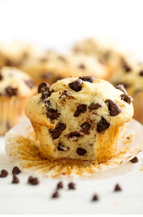 Mom's Easy Chocolate Chip Muffins