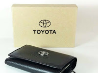 Gantungan Kunci Kulit STNK Brand Toyota - Dompet Kulit Bandung Asli