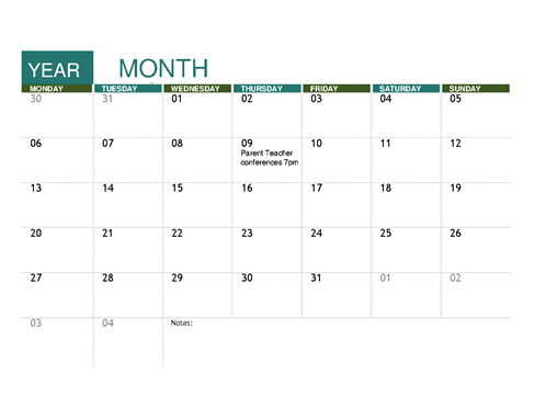 Printable Calendar Template 2019 | 2019 Calendar Editable Download