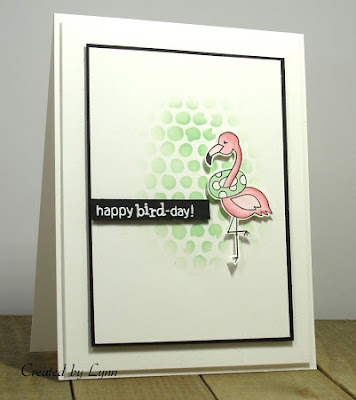 Happy bird-day by Lynn features Flirty Flamingos by Newton's Nook Designs; #newtonsnook