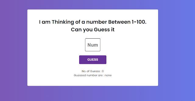 number guessing game javascript | number guess game javascript game