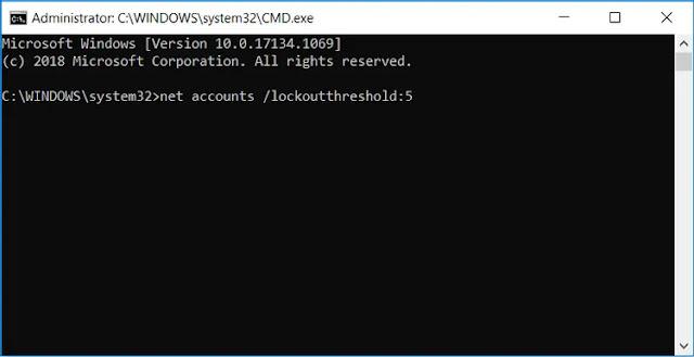كيفية الحد من عدد محاولات تسجيل الدخول الفاشلة على ويندوز 10