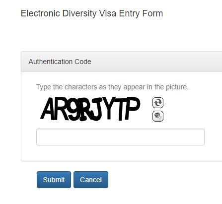edv authentication code to applying diversity visa 2022