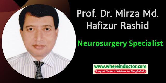 Profile of Prof. Dr. Mirza Md. Hafizur Rashid