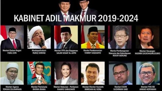 Beredar Susunan Kabinet Prabowo-Sandi, BPN: 100 Persen Hoax