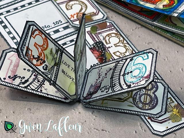 Mini Stamped Label Book - Gwen Lafleur