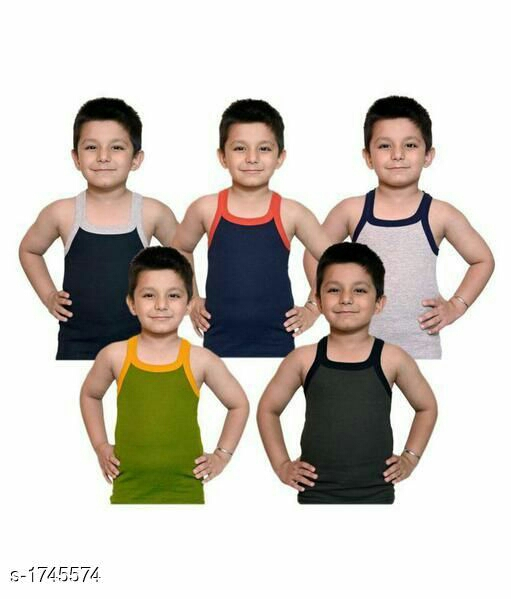 Kid's Boy's Cotton Vest