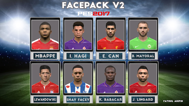 PES 2017 Facepack v2 by Arifin [Face Mod PES]