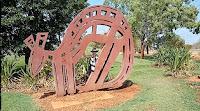 Northern Territory Public Art | Kangaroo Sculpture in Katherine