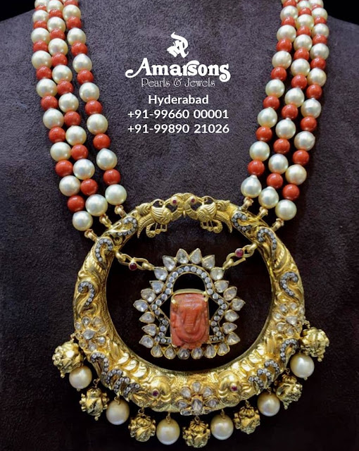Coral Beads Studs from Amarsons Jewels