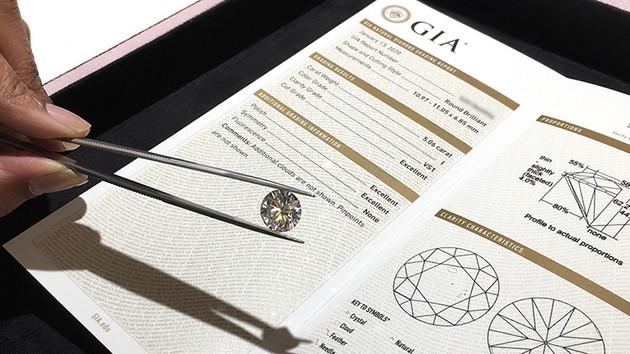 Certificato diamanti