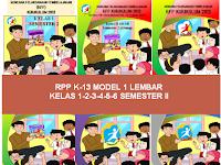 RPP K13 Model 1 Lembar Kelas 1,2,3,4,5,6 Semester 2