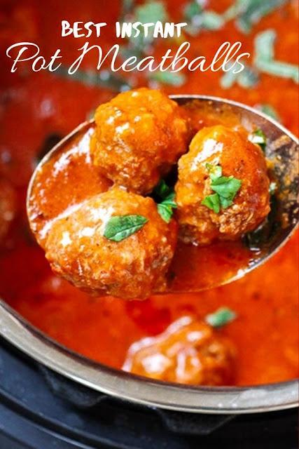 Best Instant Pot Meatballs #Best #Instant #Pot #Meatballs Dinner Recipes Healthy, Dinner Recipes Easy, Dinner Recipes For Family, Dinner Recipes Vegan,