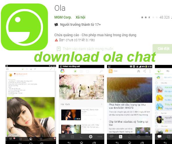 Tải Ola cho Android - Ứng dụng chát miễn phí 100% cho di động b