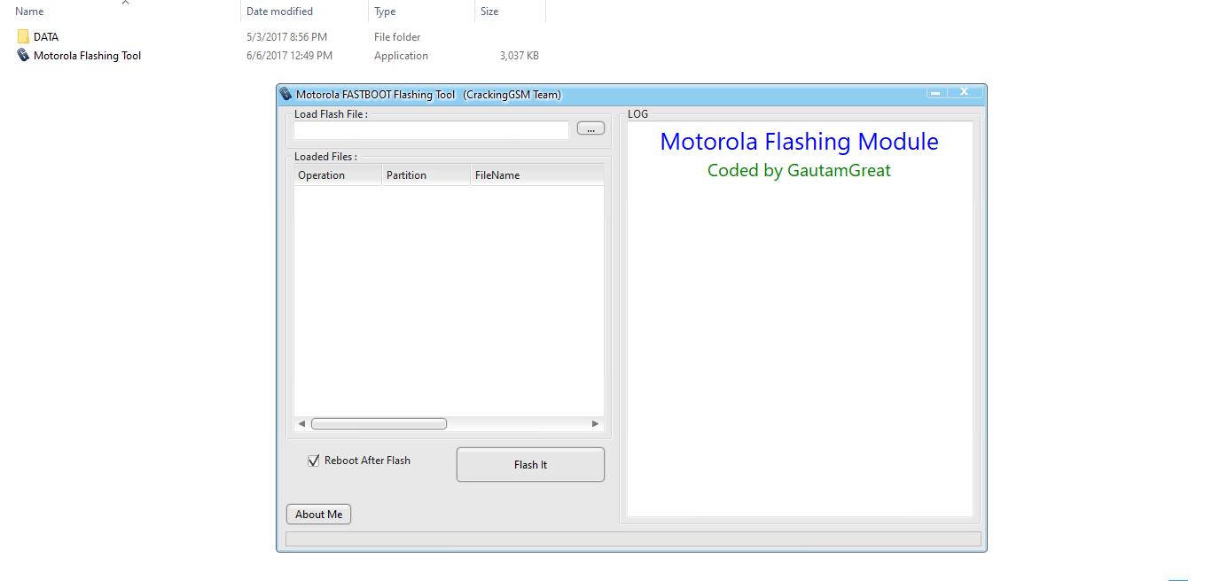 Motorola Fastboot Flashing Tool By CrackingGSM Team