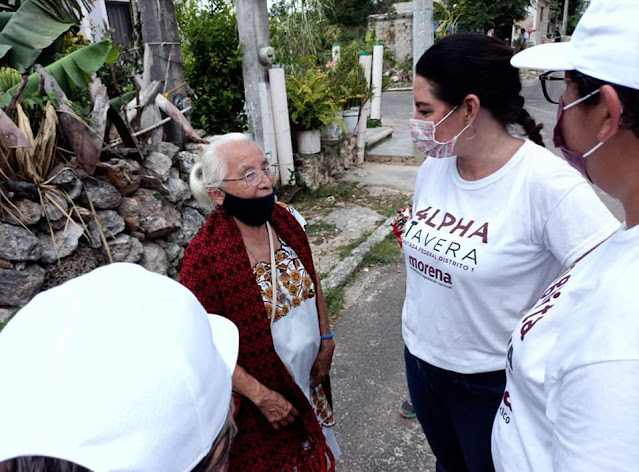MORENA respalda la candidatura de la maestra Alpha Tavera Escalante en Yucatán