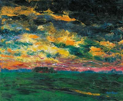 Emil Nolde -   Ruffled-Autumn-Clouds