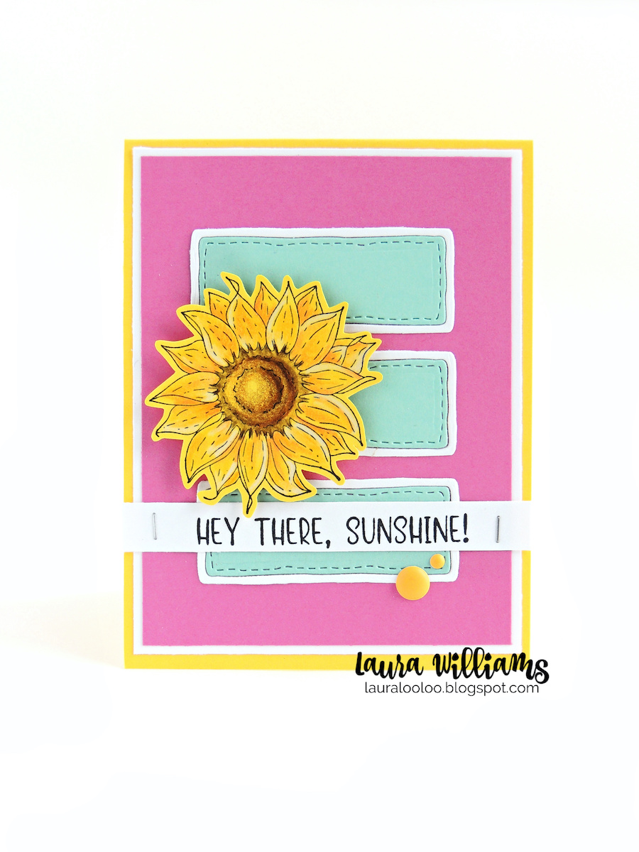 Hey there Sunshine! Make a cute card with simple die cutting and a sweet sunflower stamp, all from Impression Obsession. Stop by my blog to see two ways to use this sunflower stamp.