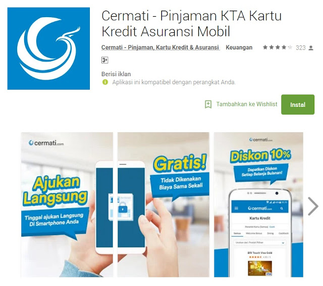 Aplikasi Cermati di Google Play Store