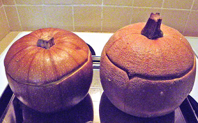 Sugar Pie and Winter Luxury Pumpkins after Baking