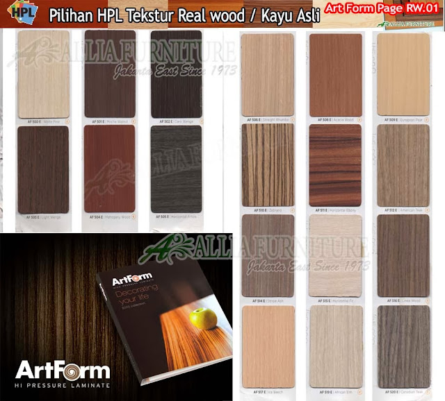 RW.01 HPL Art form motif tekstur kayu asli