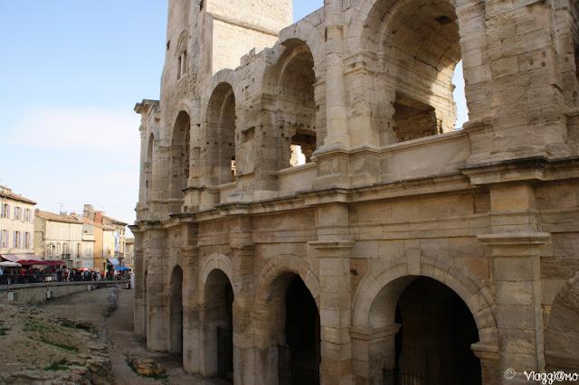 Anfiteatro romano nel centro di Arles: l'Arena