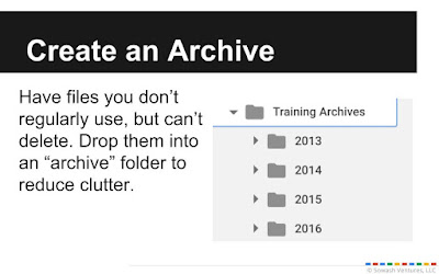 Create an archive folder in drive.