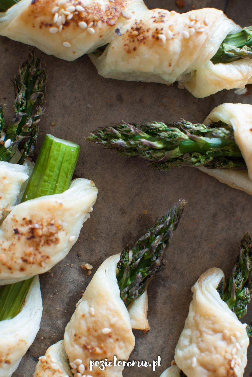 Szparagi w cieście francuskim (najprostsze)