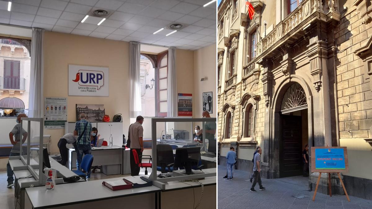 Hub vaccinale COmune di Catania proprogato al primo ottobre Palazzo degli Elefanti