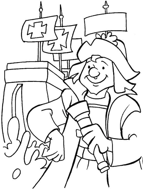 Dibujos De Cristóbal Colón Para Colorear Blog De Imágenes