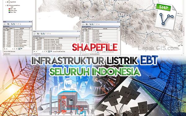 SHP Peta Infrastruktur Ketenagalistrikan Indonesia - Format Shapefile