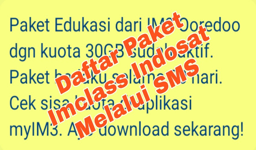 Imclass Edukasi Indosat 30 GB