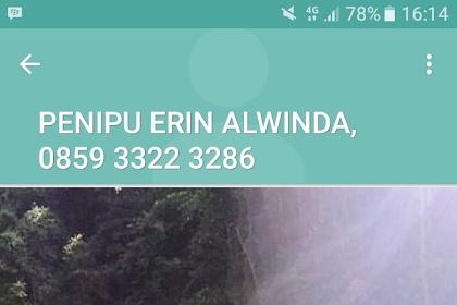 Modus Penipuan Isi Pulsa Erin Alwinda 085933223286