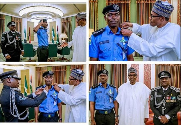 President Buhari Receives And Decorate New Inspector General of Police