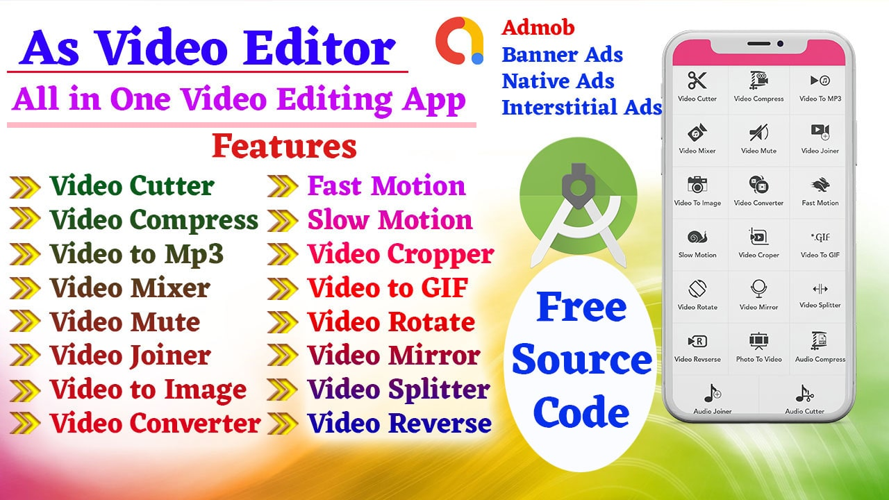 Video Editor Source Code free Download For Android Studio