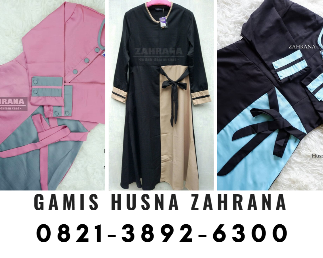 Termurah 0821 3892 6300 Jual Gamis Polos Zahrana Surabaya Harga