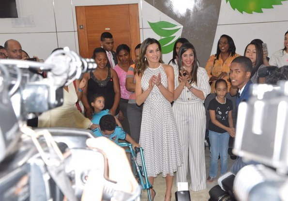 Queen Letizia visited CAID which is a comprehensive Care Center for disabled people