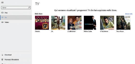 Film e TV programma windows 10